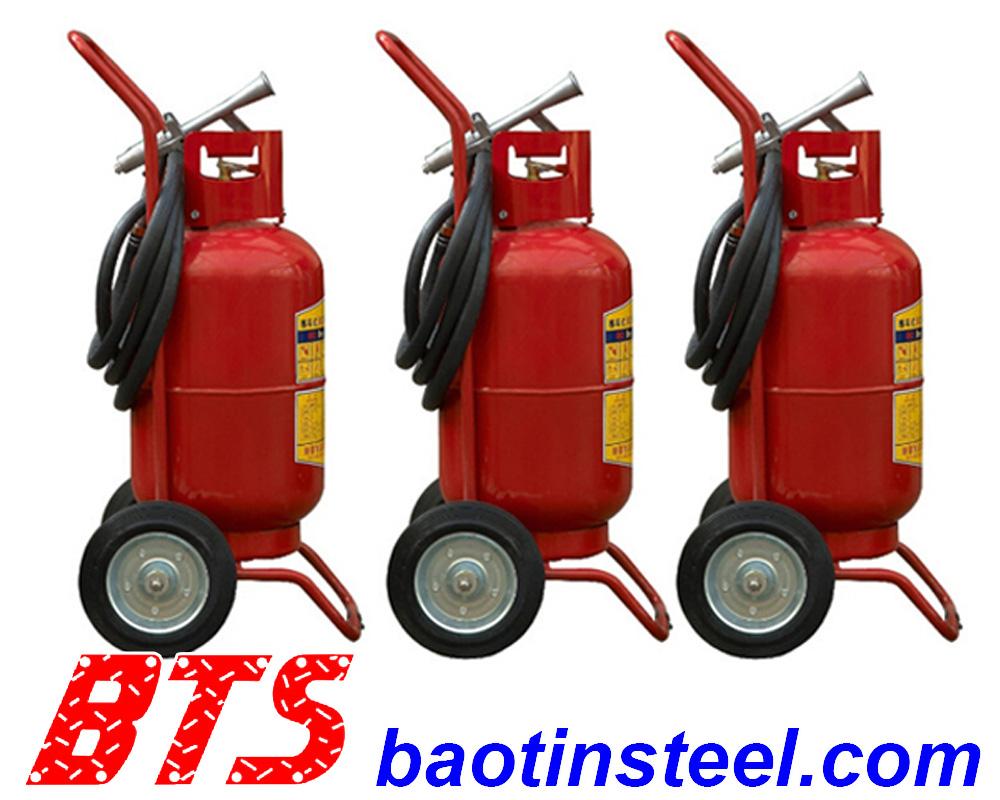 bình chữa cháy dạng bột có xe đẩy mftz 35kg, bình chữa cháy xe đẩy